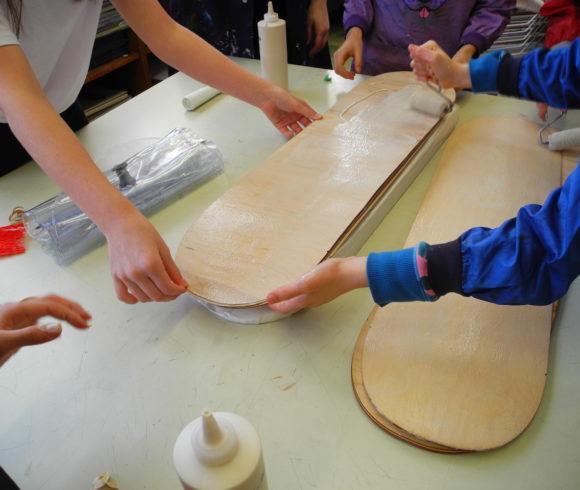 Création de planches à roulettes